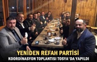 Yeniden Refah Partisi Koordinasyon Toplantısı Tosya'da...