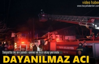 Tosya Şeh Mahallesinde İki Katlı Ev Yandı