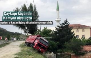 ÇAYKAPI KÖYÜNDE AKILALMAZ TRAFİK KAZASI
