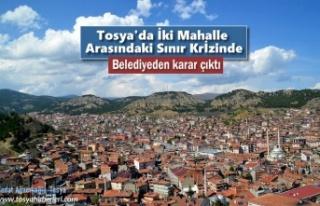 Tosya'da İki Mahalle Arasında ki Sınır Krizine...