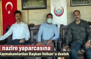 Kaymakamlardan Tosya Belediye Başkanına Destek