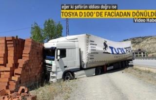 TOSYA D100'DE TIR KAZASINDA FACİADAN DÖNÜLDÜ