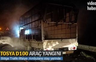 TOSYA D100 KARAYOLU ARAÇ YANGINI