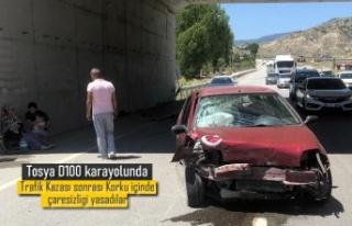 TOSYA D100 KARAYOLUNDA TRAFİK KAZASINDA BİR AİLE...