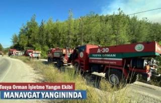 TOSYA ORMAN İŞLETME EKİPLERİ MANAVGAT YANGININDA