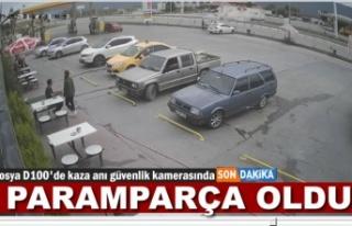 TOSYA D100'DE TRAFİK KAZASI SANİYE SANİYE...