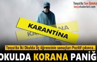 TOSYA'DA İKİ OKULDA KORONA ÜÇ SINIF KARANTİNAYA...