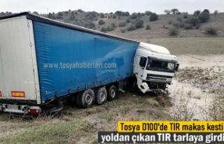 TOSYA ORTALICA KAVŞAĞINDA TIR MAKAS KESTİ