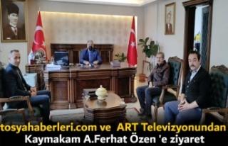 HABER SİTEMİZDEN KAYMAKAM A.FERHAT ÖZEN'E...