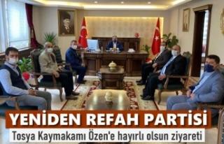 YENİDEN REFAH PARTİSİ TOSYA TEŞKİLATI KAYMAKAM...