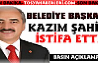 Başkan Kazım Şahin Mhp'den İstifa Etti