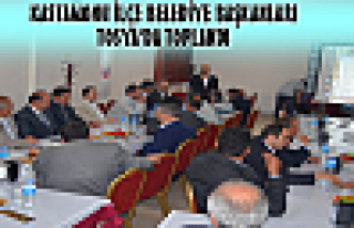 Kastamonu İlçe Belediye Başkanları Tosya'da Toplandı