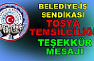 BELEDİYE-İŞ SENDİKASI TOSYA TEMSİLCİLİĞİ...