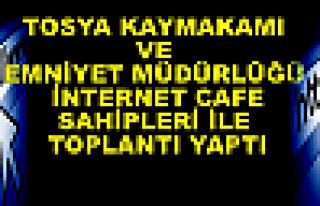 Tosya Kaymakamı Türköz İnternetcafe sahipleri...
