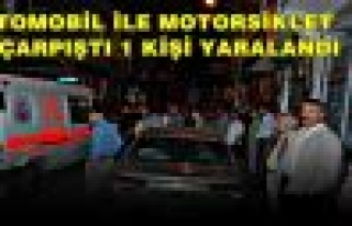 Tosya'da Motorsiklet kazası ucuz atlatıldı