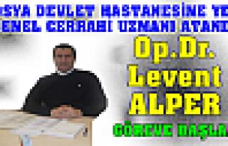 Op.Dr. Levent ALPER Göreve Başladı