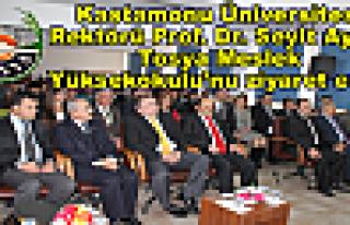 Rektör Prof.Dr.Seyit Aydın Tosya 'yı Ziyaret etti