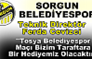 Sorgun Belediyespor Tosya Maçına Hırslı Hazırlanıyor
