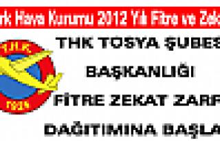 THK TOSYA ŞUBESİ BAŞKANLIĞI FİTRE ZEKAT ZARFI...