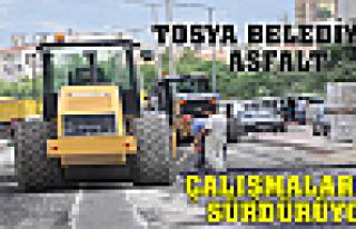 TOSYA BELEDİYESİ ASFALT ÇALIŞMALARINI SÜRDÜRÜYOR