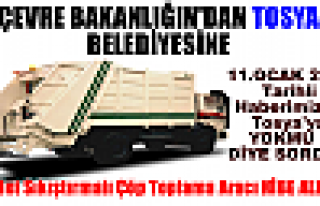 Tosya Belediyesine HİBE