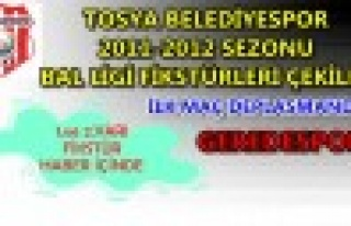 TOSYA BELEDİYESPOR 2011-2012 SEZONU BAL LİGİ FİKSTÜRLERİ...