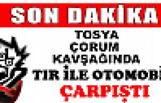Tosya D-100 de Çorum Kavşağında Trafik kazası