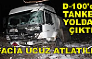 Tosya D-100 de Tanker Yoldan Çıktı