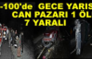 TOSYA D-100 'DE TRAFİK KAZASI 1 ÖLÜ 7 YARALI