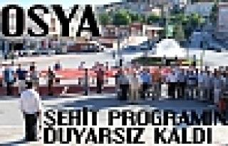 Tosya Dağlıca Şehitlerini Anma Programına Duyarsız...