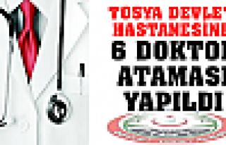 TOSYA DEVLET HASTANESİNE 6 DOKTOR ATAMASI YAPILDI