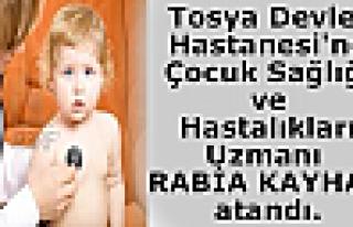 Tosya Devlet Hastanesi'ne Çocuk Sağlığı ve Hastalıkları...