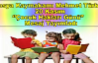 Tosya Kaymakamı Mehmet Türköz Çocuk Hakları Günü''