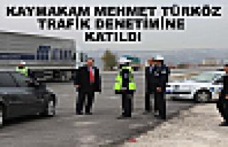 Tosya Kaymakamı Mehmet Türköz Trafik Denetimine...