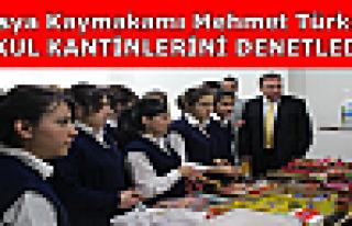 Tosya Kaymakamı Türköz Okul Kantinlerini Denetledi