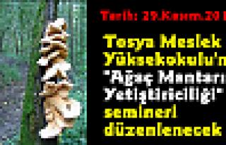 Tosya Meslek Yüksekokulu'nda ''Ağaç Mantarı Yetiştiriciliği''...