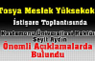 Tosya  MYO Masaya Yatırıldı