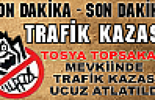 Tosya Topsakal Mevkiinde TRAFİK KAZASI