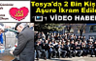 Tosya'da 2 Bin Kişiye Aşure İkram Edildi
