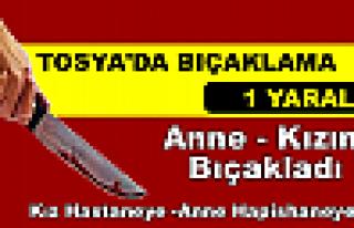 Tosya'da Anne Kızını Bıçakladı