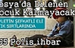 Tosya'da Dilencilik Eden Çocuklara Polisin Şefkat...