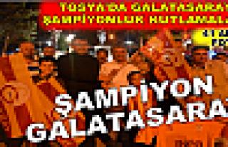 Tosya'da Galatasaray Şampiyonluk Kutlamaları