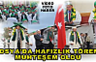 Tosya'da Hafızlık Töreni  Muhteşem Oldu