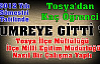 Tosya'dan Kaç Öğrenci Umreye Gitti?