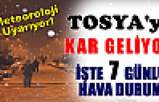 TOSYA'YA KAR GELİYOR !