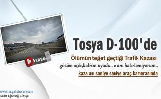 TOSYA D-100'DE ÖLÜMÜN TEĞET GEÇTİĞİ TRAFİK KAZASI