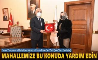Tosya'nın İlk Bayan Muhtarına Kastamonu Valisi Çakr'dan Destek