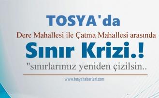 Tosya'da İki Mahalle Arasında Sınırlar Yeniden Çiziliyor