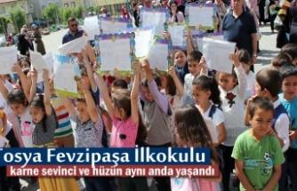 Tosya Fevzipaşa İlkokulnda Hüzünlü Karne Töreni
