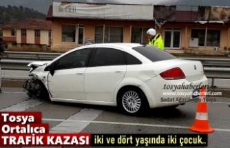 ORTALICA KAVŞAĞINDA TRAFİK KAZASI